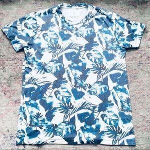 Sol Angeles blue foliage print T shirt